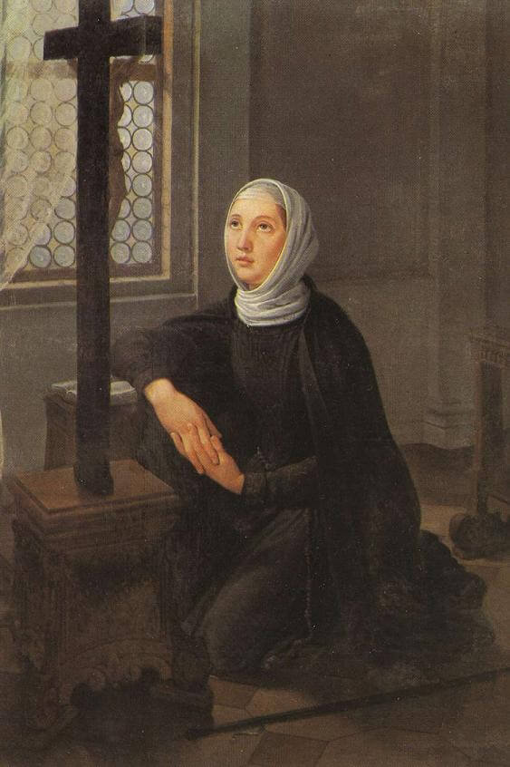 A painting of St Angela Merici used with creative commons licence