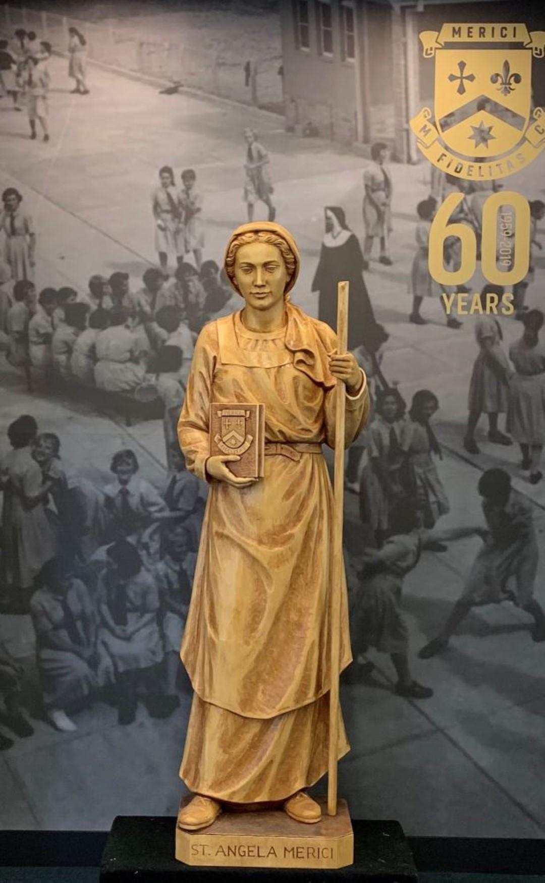 St Angela Merici statue