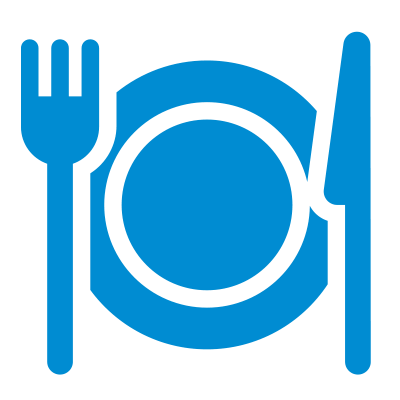 a blue report icon
